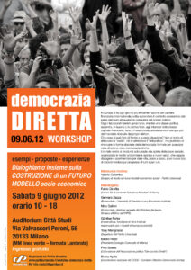 Presentazione Work Shop sulla Democrazia Diretta 9 Giugno 2012 a Milano