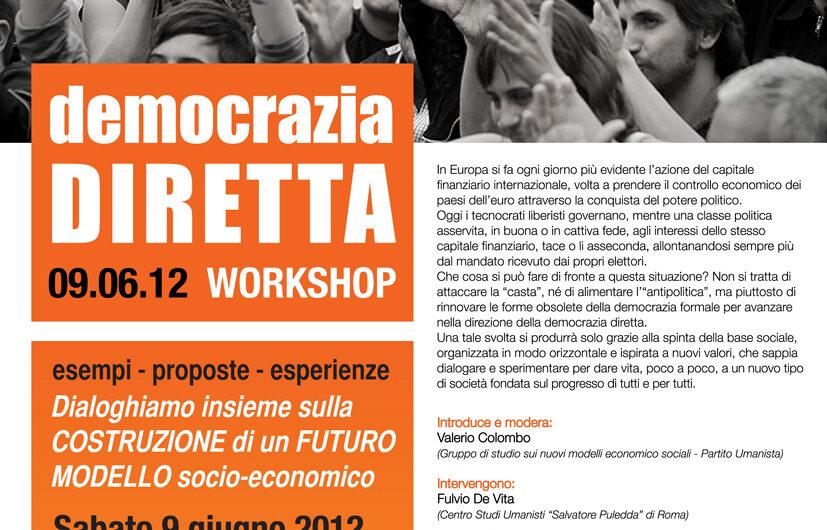 9 giugno al Workshop Democrazia Diretta a Milano