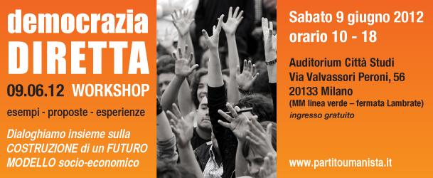 workshop democrazia diretta 9 giungno milano