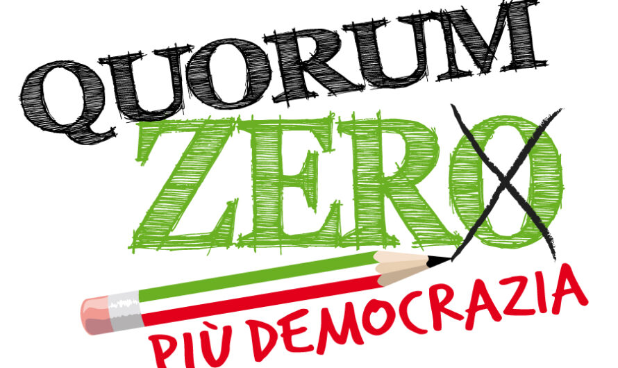 """A che punto è la proposta di legge """"Quorum Zero"""" ?"""