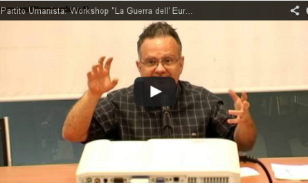 Valerio Colombo Workshop la Guerra dell' Euro