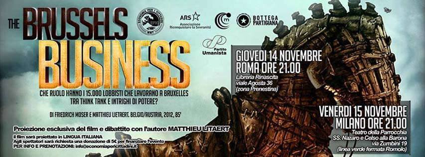 Proiezione Brussels Business 14-15 Novembre Roma-Milano