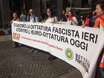 Milano 25 aprile no-euro