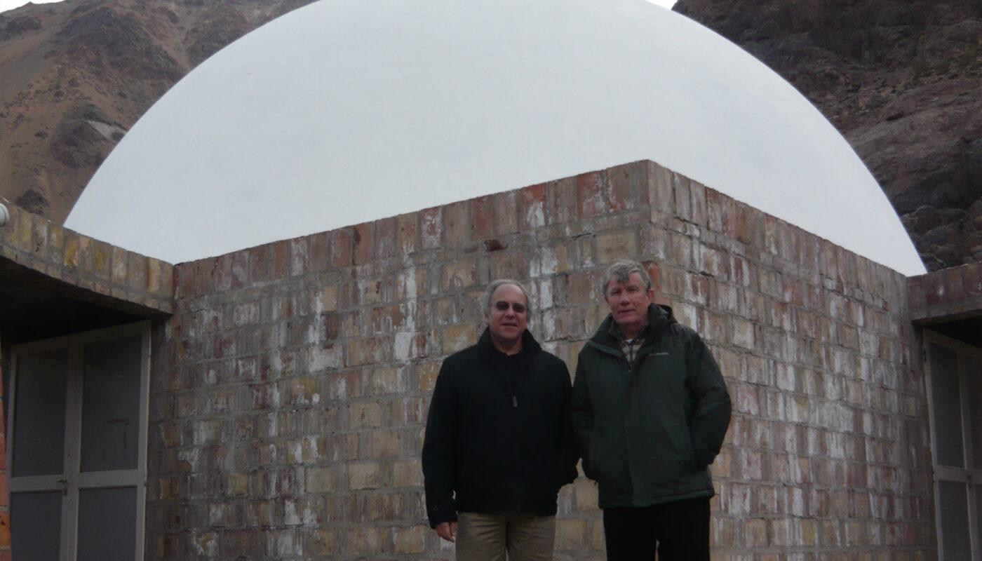 Tomás Hirsch e Guillermo Sullings al Parco di Studio e Riflessione di Punta de Vacas, in Argentina