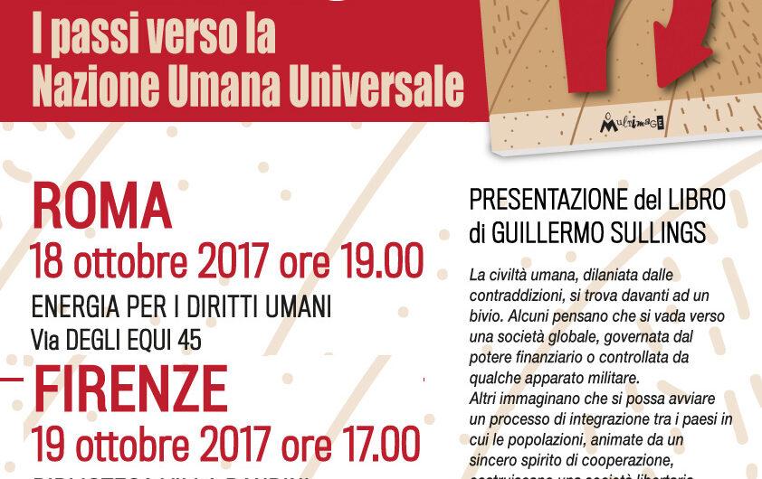 18-19-20.10 presentazione del libro L'UMANITÀ AL BIVIO – I passi verso la Nazione Umana Universale
